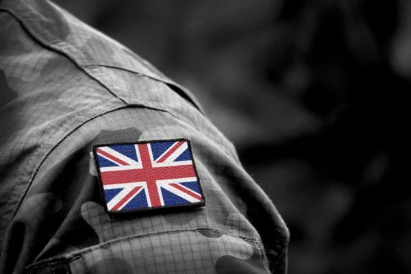 Flag,Of,United,Kingdom,On,Military,Uniform.,Uk,Army.,British